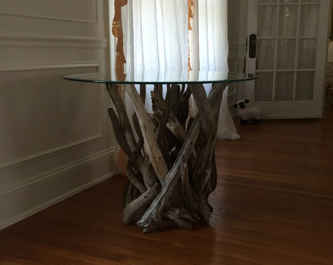 Driftwood Side Table. Handmade from Reclaimed Driftwood.
