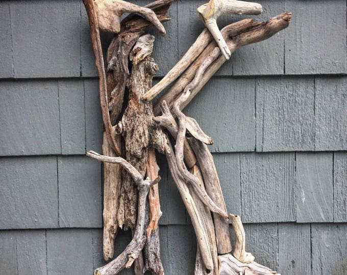 Driftwood Letter Sign. Made from reclaimed driftwood.