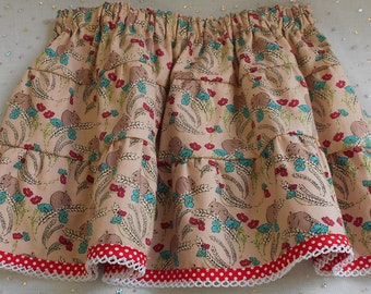 18-24mth skirt-Cute mice skirt-Gathered skirt-Twirly skirt-Baby girl skirt-Infants skirt-Toddlers clothes