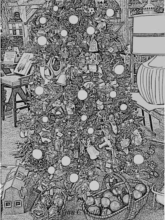 Christmas Tree Adult Coloring Pages Adult Coloring Etsy