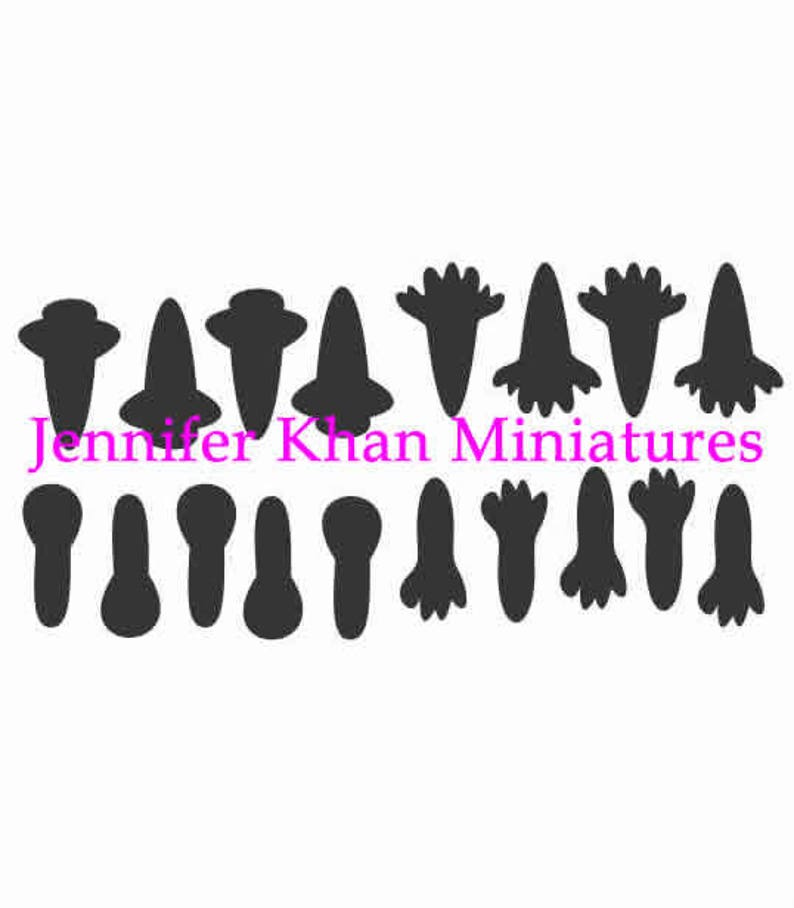 Snapdragon Cutter ~ 12th Scale ~ 24th Scale ~ 9th Scale ~ Clay Cutters ~ Cold Porcelain Cutters ~ Miniature Flower Making