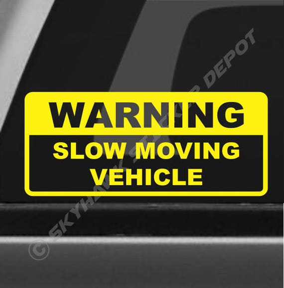 warning slow moving vehicle decal truck sticker vinyl car decal