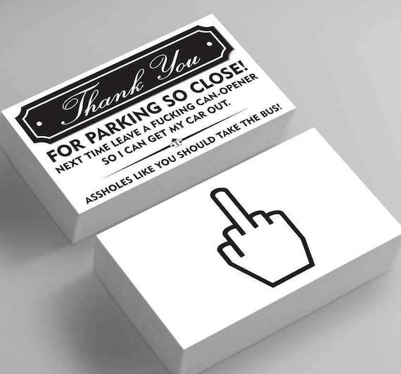 Lustige Schlecht Parken Visitenkarten 25 Pack Vielen Dank Für Das Parken So Nah Saugen Am Parkplatz Witz Knebeln Fake Parkplatz Ticket Lustige
