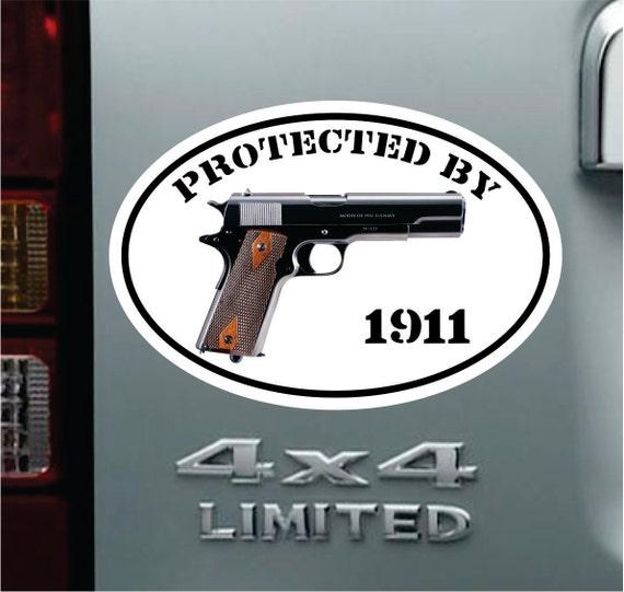 9mm inside vinyl decal//sticker protection gun pistol