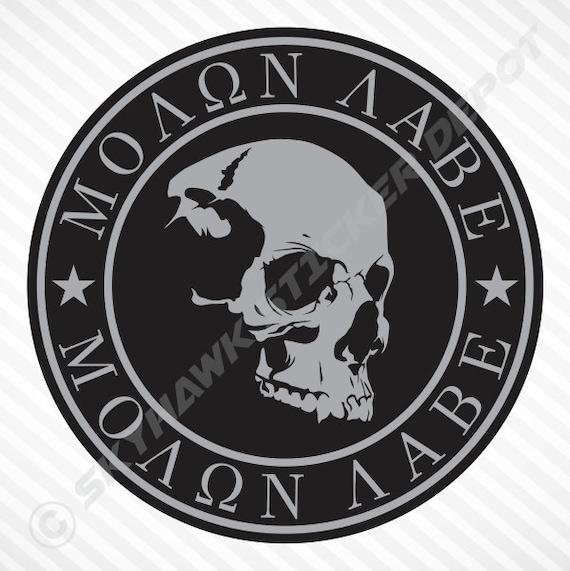 Molon Labe Punisher Skull Don/'t Tread USA Car Truck Window Decal Vinyl Sticker