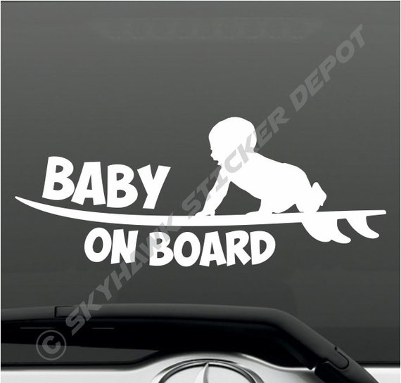 American Vinyl Baby Ninja On Board Sticker Funny Safety car Caution Decal
