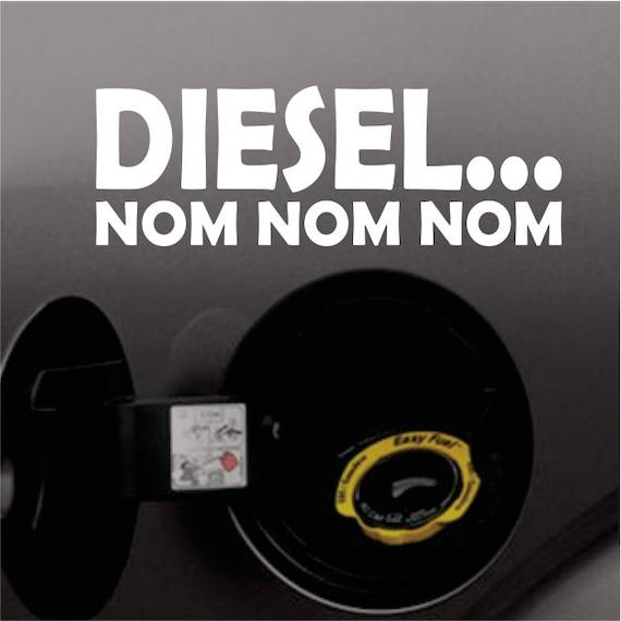 Diesel Nom Nom Nom Lustige Aufkleber Vinyl Aufkleber Auto Lkw Kohle Roller Aufkleber Turbo Diesel Für Ford Dodge Chevy Trucks