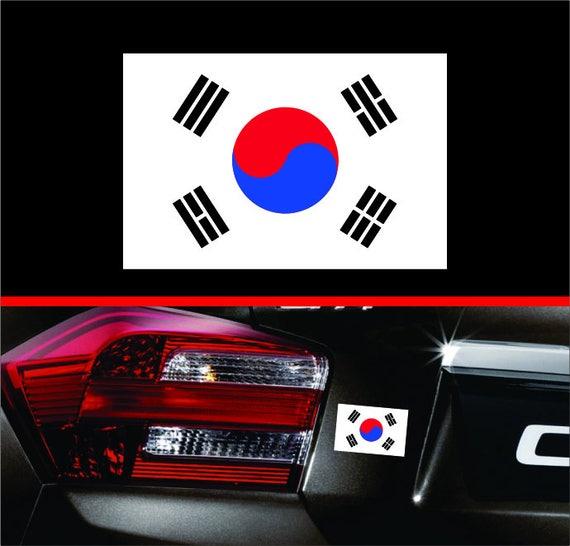 South Korea Flag Skull Car Bumper Sticker Decal 3/'/' x 5/'/'