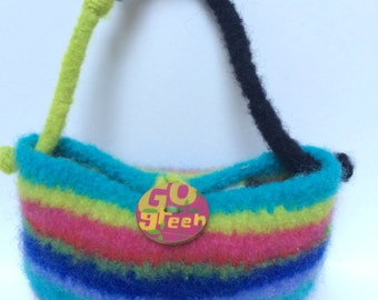 Whimsical Felted Tote