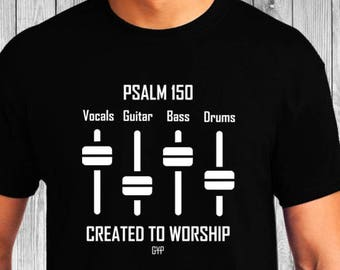 Created to Worship Sound Mixer - Christian T-Shirt - Christian Apparel - Faith Shirt - Religious Shirt