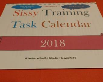 Sissy Training Task Calendar 2018- Advanced-
