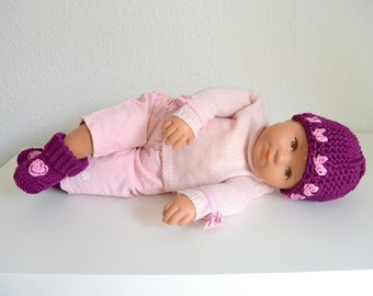Babyset 0-1 months hat and boots