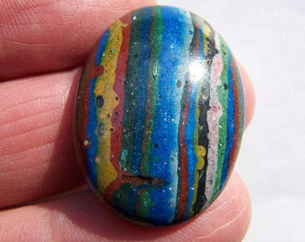 Rainbow Calsilica Cabochon 29x21x5mm