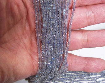 Faceted Labradorite 2mm round beads 15.5 inch strand