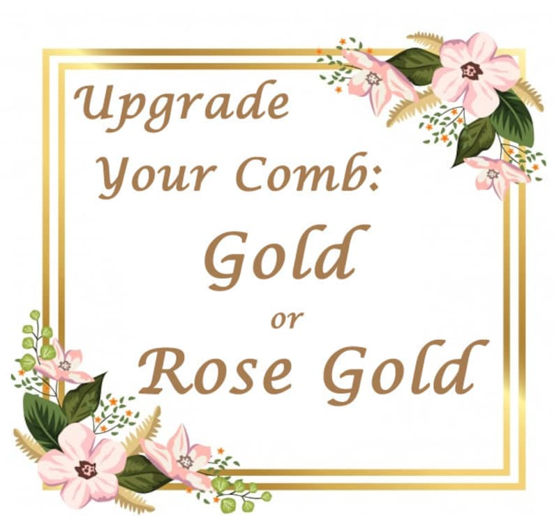 Upgrade Your Comb Add a Gold Comb to Your Veil Add a Rose image 0