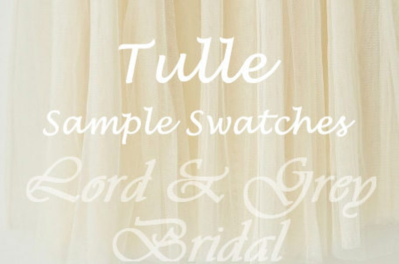 Tulle Sample Swatches Custom Swatch Packet Bridal Veil image 0