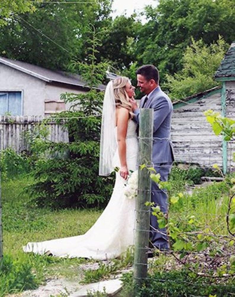 Bridal Fingertip Veil Wedding Veil Chapel Veil Single Layer image 0