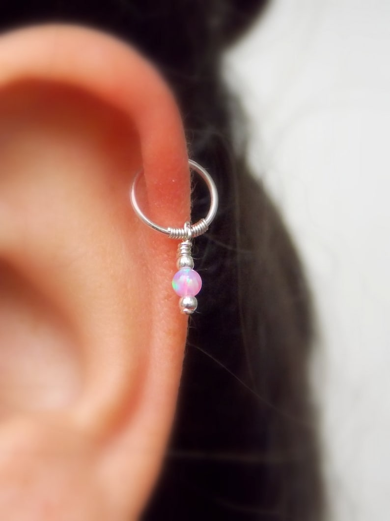33e3454a0 Opal cartilage earring helix earring tragus earring Small | Etsy