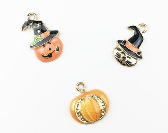 caf6bee673783 Tiny pumpkin charm | Etsy