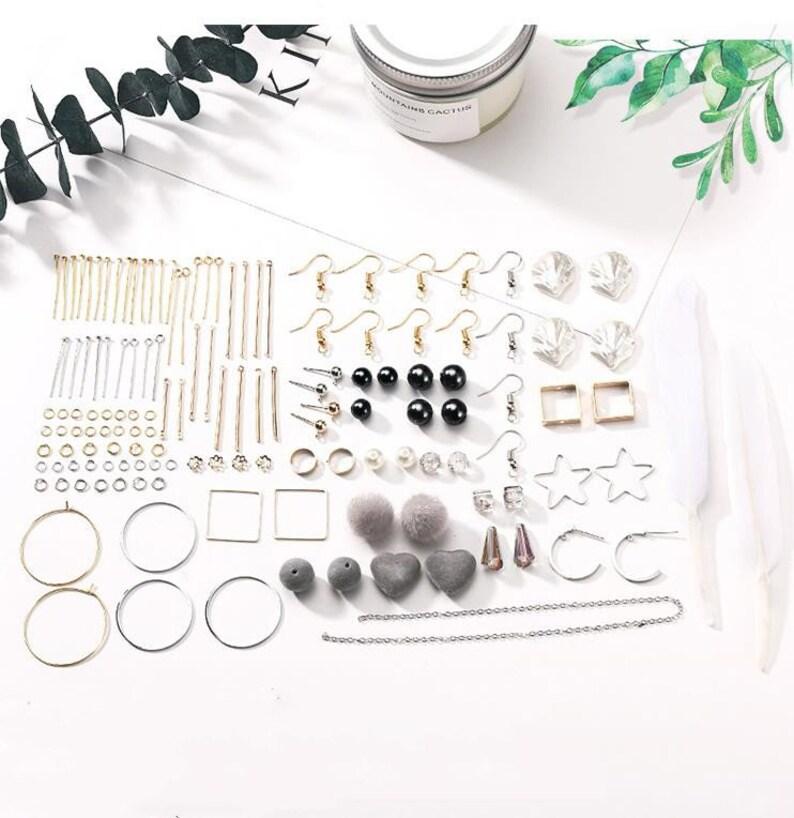 Make earring 1 DIY Earring Kit Earring Kit Earwires Earring Making,Earring Components DIY Earring Material Set Supplies Craft earring