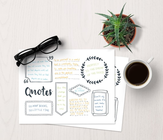 bujo quote template bullet journal quotes bullet journal etsy