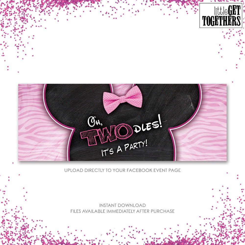 Minnie Mouse Oh Twodles Oh Toodles Birthday Party Facebook Etsy