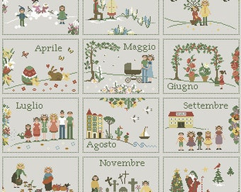 12 months Calendar pdf