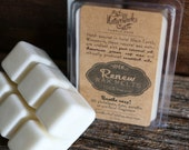 RENEW Wax Melts - Freshen, Cleanse, Deodorize - soy, coconut oil essential oils with anitbacterial properties - NO artificial fragrance