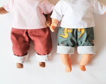Patron MARIUS poupée 30cm : pantalon droit / short