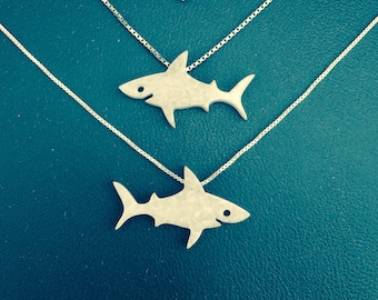 Shark Necklace Gift, My Original Design So Go Ahead And Be Jawsome!, Rare, Exclusively Kids Necklace, White Shark, Blue Shark, Baby Shark