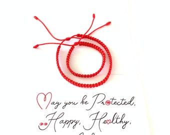 Red String Bracelet - Kabbalah Bracelet - Stacking Bracelet - Cord Bracelet - Wish Bracelet - Simple Red Bracelet