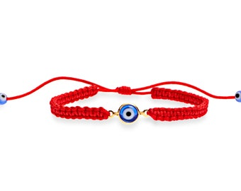 Red String Bracelet Kabbalah with Eye Protection, A cute Stacking Bracelet, Cord Wish Bracelet and Everyday Simple Red Bracelet