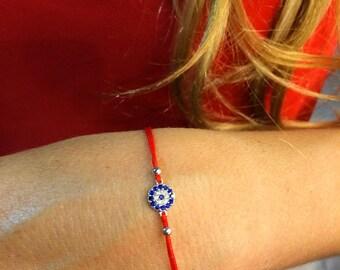 Red String Eye Bracelet - Hilo Rojo con Ojo Mal de Ojo