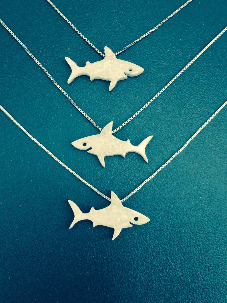 Shark Necklace Shark Gifts My Original Design Go Ahead and image 0