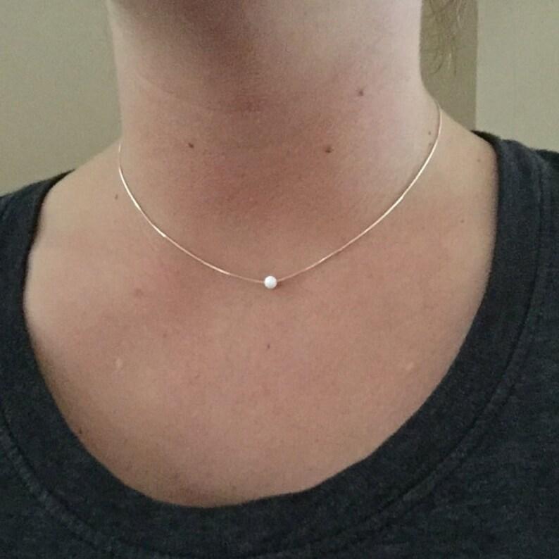 Opal Choker Necklace Sterling Silver Opal Choker Gold Opal image 0