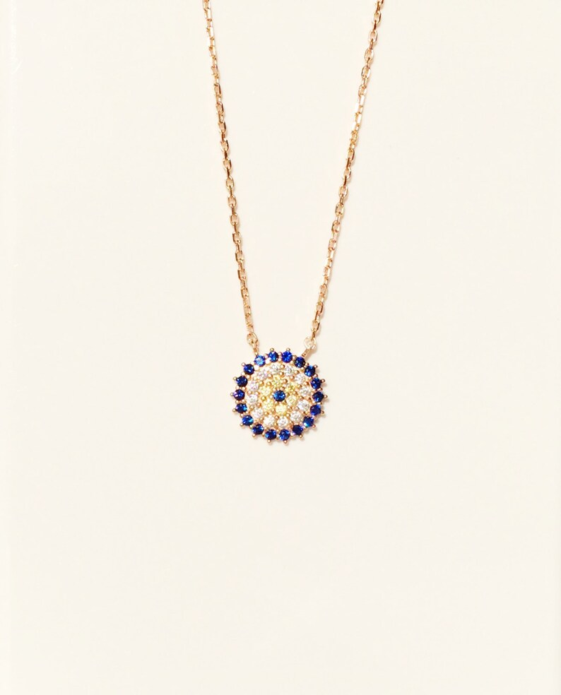 Evil Eye Necklace 60% OFF Gold Eye Necklace Sterling Silver image 0