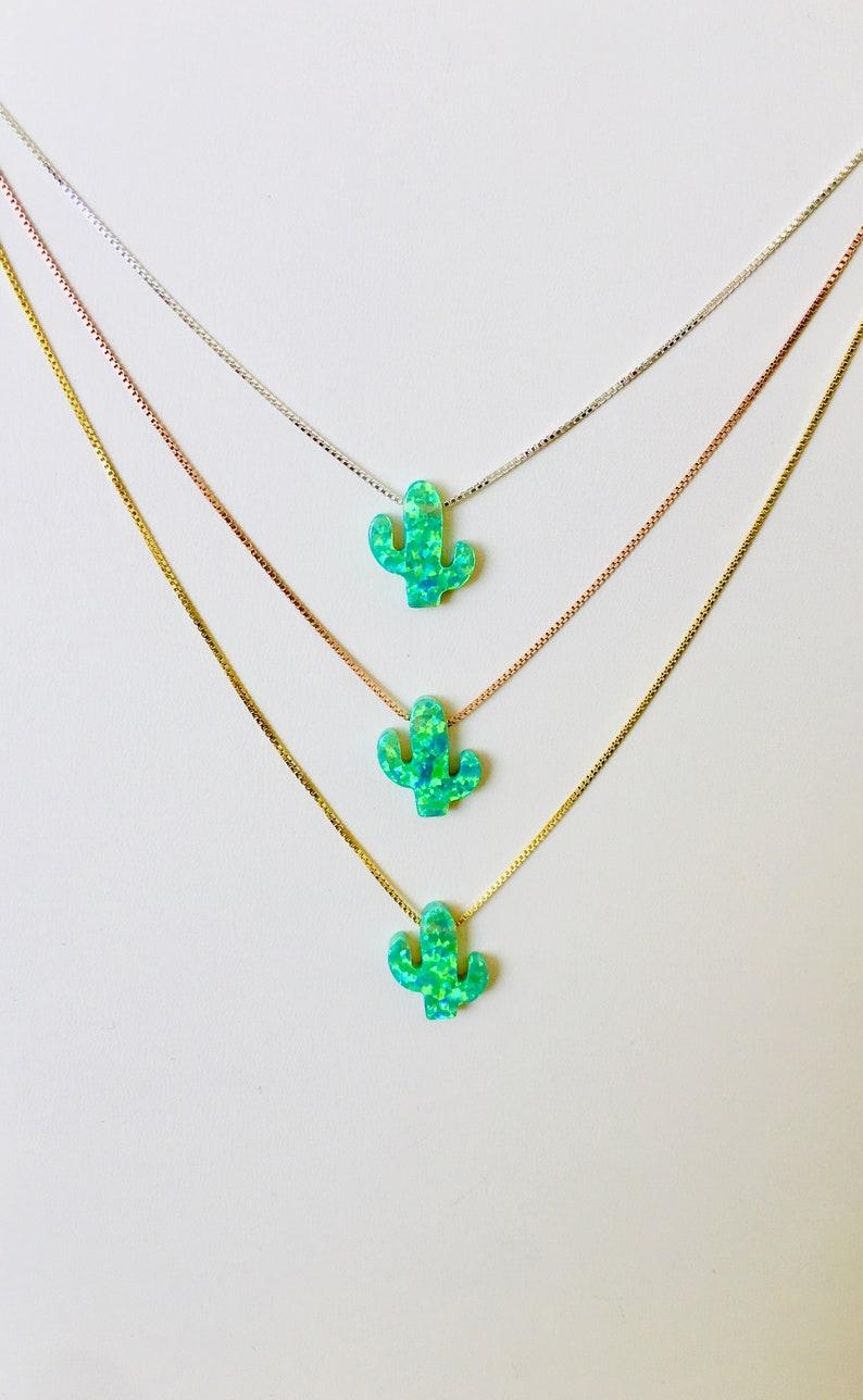 Cactus Cactus Necklace Best Low Price Etsy Southwestern image 0