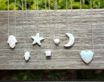 Opal Necklaces, Opal Pendant, Opal Necklace Gold, Opal Jewelry, Silver Opal Necklace, White Opal, Blue Opal Necklace, Opal Choker Necklace