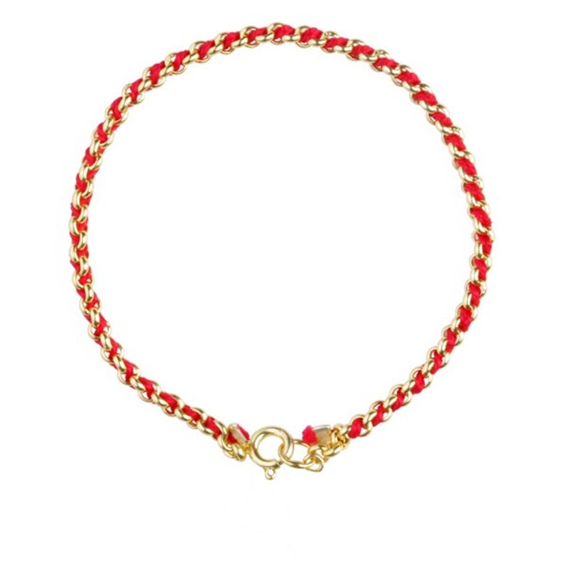 Red String Kabbalah Bracelet for Wealth Health Good Luck image 0