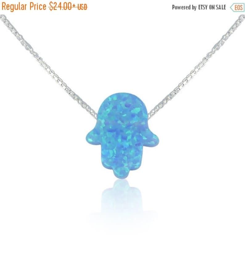 Opal Hamsa NecklaceOpal Hamsa Hand Necklace10 Chain light-silver-box