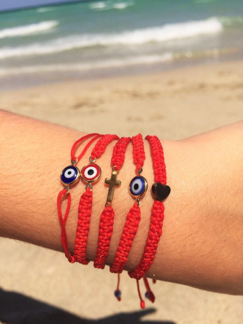 Red String BraceletsRed StringFriendship BraceletProtection image 0