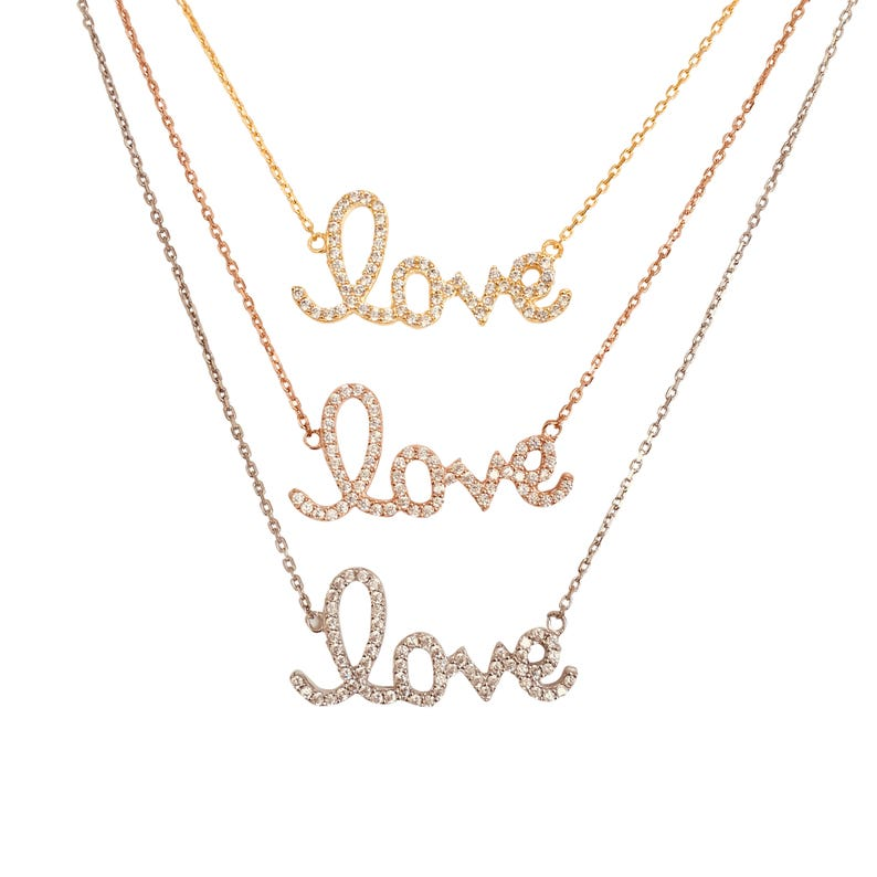 Love Necklace Love Gifts For Her Valentines Day Gift For image 0