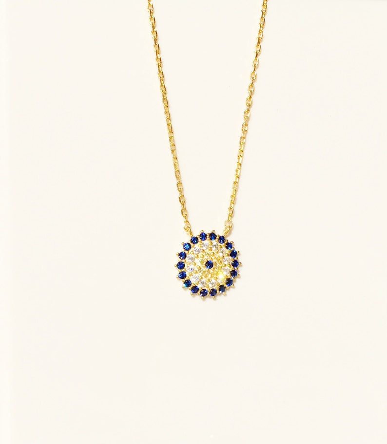 Evil Eye NecklaceON SALEGold Eye necklaceCubic image 0
