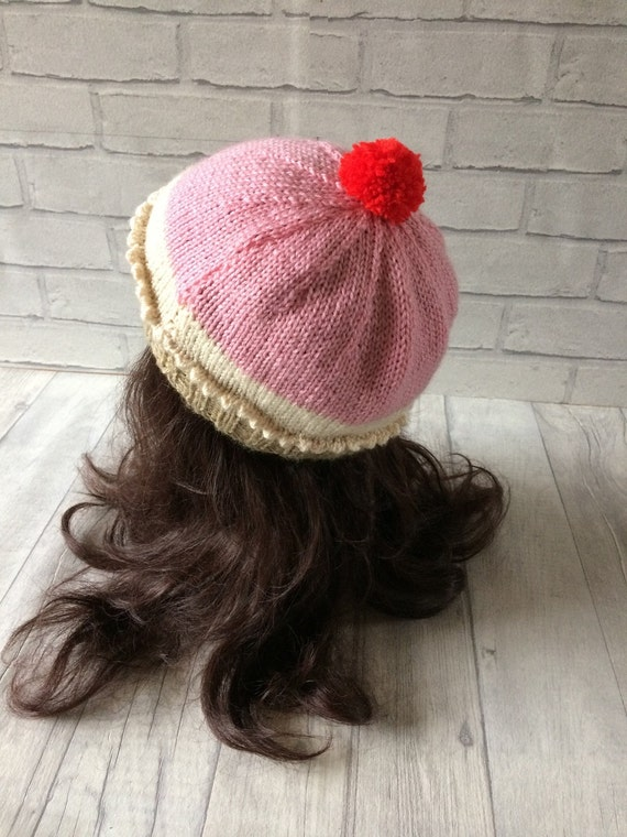 Cupcake Knitted Hat Novelty Hat Funny accessories Knitted  eadc54125a2