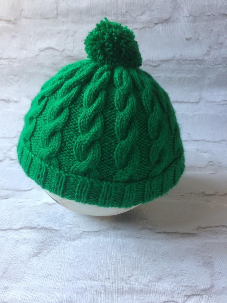 0597780e Pom pom knit Beanie Birth to Adult sizes pick your own   Etsy