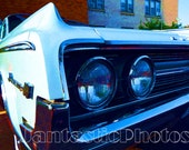 Oldsmobile Dynamic 88 photograph 1964 Olds Instant download photo classic white car photography vintage automobile headlights bumper art