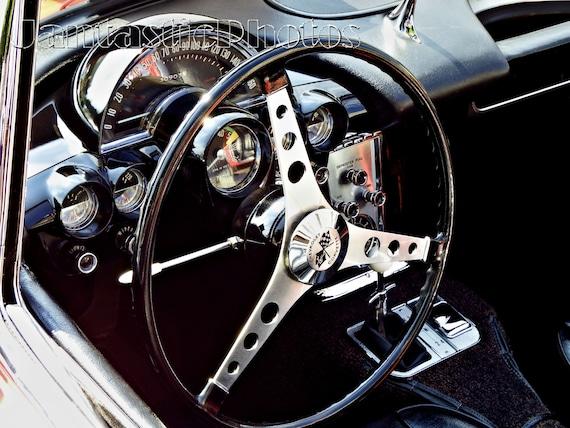 1963 Corvette Vette  Chevy Tachometer Photo Keychain Men/'s Gift