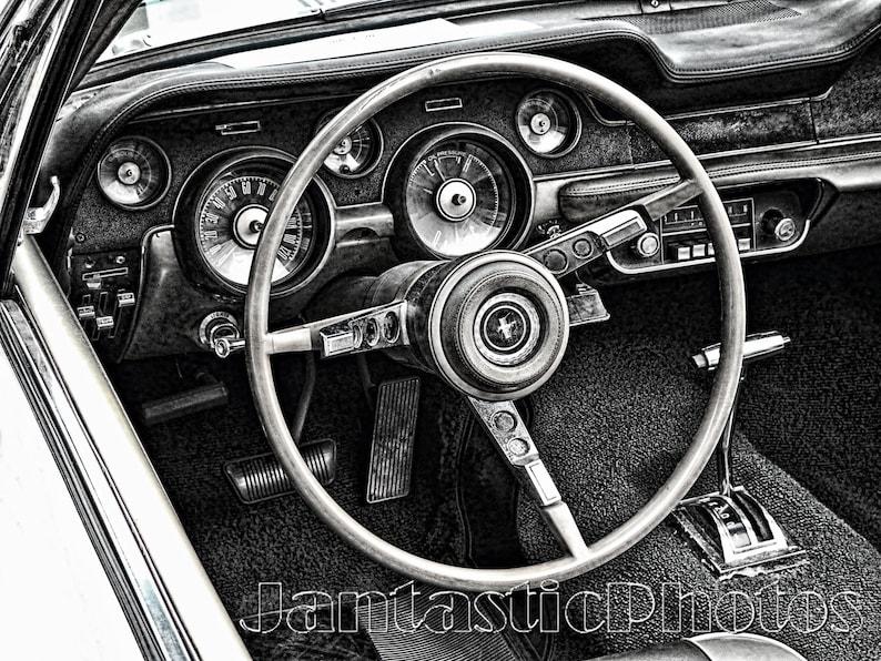 0dfe30d3aca654 Mustang Dashboard photograph Ford 1967 pony car interior   Etsy