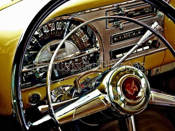 Pontiac Chieftain Fotografie 1954 Oldtimer Armaturenbrett Etsy