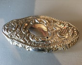Silver Repousse hinged Box